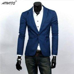 Wholesale Handsome Black Men Suits - Wholesale-Hot sale men fashion handsome small suit men's casual blazers man Stylish Slim jackets male leisure business dress suit
