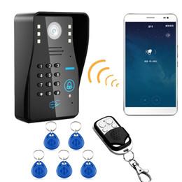zugang zu mobiltelefonen Rabatt Wireless IP WIFI RFID Passwort Video Türsprechanlage Türklingel Intercom System Nachtsicht Wasserdicht Access Control System