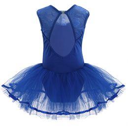 f272159b77db dance dresses iEFiEL Children's Dancing Dresses Girls Sleeveless Cutout  Back Ballet Dance Leotard Tutu Dress Kids for Stage Performance