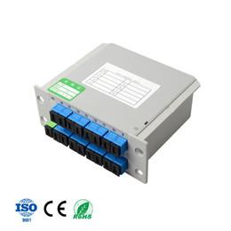 Optische module online-1x16 LGX Box Cassette Karte Einfügen von SC / UPC PLC Splitter Modul 1:16 Optical PLC Splitter