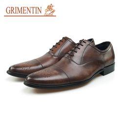 GRIMENTIN uomo Oxford scarpe in vera pelle stile britannico classico vintage formale affari scarpe da sposa uomo vendita calda scarpe da uomo vestito