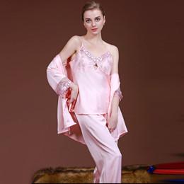 35d40f0ad9e 3pcs Set Night Dress Women Satin Nightgown Sleepwear Night Gown Sleeping  Dress Plus Size Bathrobe Chemise De Nuit SY023 0