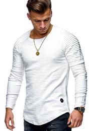 Männer t-shirts gestreift t-shirt homme Sommer Oversized Arc Hem Langarm T-Shirt Männer Hip Hop T-Shirt Streetwear Slim Fit Xxxl von Fabrikanten