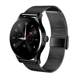 telefoni cellulari Sconti K88H Bluetooth Smart Watch Classic Health Metal Smartwatch cardiofrequenzimetro per Android IOS Phone Remote Camera Clock