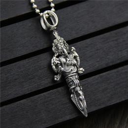 Wholesale Halloween Thailand - 925 sterling silver pendant Thailand elephant nose god of wealth pendant marcasite diamond pestle pendant lucky transfer hip hop jewelry