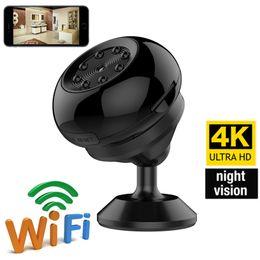 2019 dvs dvr 64GB Nuovo 4K WiFi Network Camera mini macchina fotografica di visione notturna Motion Detection DVs DVR senza fili Nanny Cam Supporto iOS Android Phone Remote View sconti dvs dvr