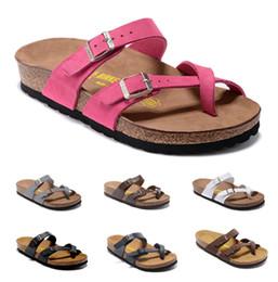 zapatillas de corcho Rebajas Summer Beach Cork Slipper Arizona Gizeh corcho fondo 2017 pisos sandalias zapatillas de corcho unisex zapatos casuales imprimir colores mezclados tamaño 34-46