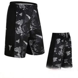 Wholesale dryer air - Basketball shorts Sports shorts, men's Black Mamba basketball pants, air speed, dry fitness, running loose training five pants.