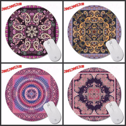 Wholesale Mouse Pad Mat Fashion - Mairuige Printing Fashion Persian carpet Gaming Mousepad Anti-Slip PC Laptop Gamer Speed Mice Rug Mat Rubber Round Mouse Pad