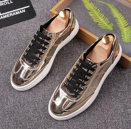 Wholesale Shiny Black Pvc Dress - Spring New product luxury brand men dress shoes shiny Party shoes designer men business shoes Smoking Slipper Free shipping 354