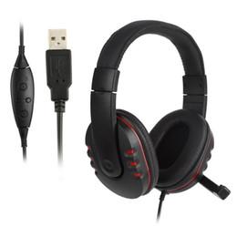Wholesale Nouveau Stéréo Écouteur Filaire USB Jeu Casque Gaming Casque Gamer Écouteur Mains Libres Avec Micro Pour PS3 PS4 Pour Xbox One