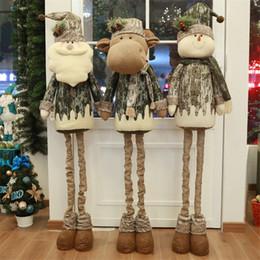 Плюшевая рождественская елка санта онлайн-Eva2king Hot Santa Claus Stretched Christmas Плюшевые игрушки Рождественская елка Елка Украшения чулок Чулок Подарки для детей Взрослые