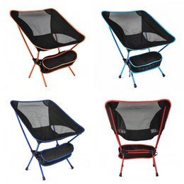 Wholesale Folding Camp Stools - Ultralight Folding Chair Aluminium Alloy Camping Fishing Stool Casual Anti Tear Breathable Beach Backrest Chairs Portable Top Quality 75hj B