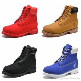 Mulheres moda moda marrom on-line-2018 Nova Moda Mens Designer de Bota De Couro Vermelho marrom Retro Ao Ar Livre Sapatos de Inverno Das Mulheres Casuais Botas de Marca de Luxo sapatos cdg Chausseures