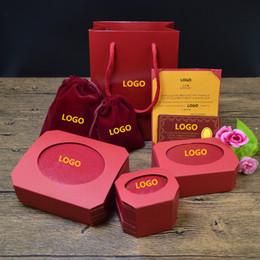 organizador de joyas princesa Rebajas Marca de amor Collar al por mayor Pulsera Anillo Caja de joyería roja Caja de joyería de Navidad Día de San Valentín Joyería de gama alta