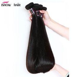 Wholesale 8A pelo virginal brasileño recto Bundles armadura brasileña del pelo lacio sin procesar vende al por mayor el pelo humano malasio peruano barato teje
