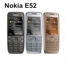 Бар телефон дюйм онлайн-Оригинал разблокирован Nokia E52 3G бар телефон 2.4-дюймовый экран 3.2 MP камера WIFI GPS Bluetooth восстановленный телефон