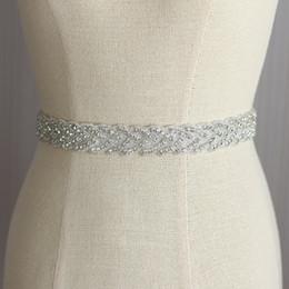 Wholesale Korean Fashion Wedding Gowns - Bridal Wedding Belt Fashion Luxury Gown Dress Korean Elegant Bridal Wedding Rhinestone Belt