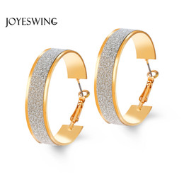 Wholesale Large Metal Circle - JOYESWING Gold Color Brincos Circle Large Hoop Earrings Round Big Fashion Alloy Metal Trendy Women's Classic Jewelry Earrings