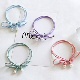 Wholesale Wig Mix Pink Ponytail - Girly style Ponytail Holder Tie ring by HAND MADE Originality BEADS Wigs Acecessories Hair Extensions   Children's Hair Accessories