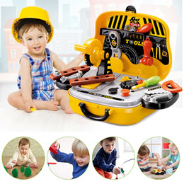 Wholesale Toy Suitcases - KAWO Pretended Suitcase Toys Engineer Tools Props for Kids Role Play Simulation Builder Kits Pretend Play Educational Toy