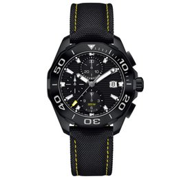 Wholesale luxury black calibre 16 - luxury brand men watches Chronograph Watch 43mm Ceramic Bezel Stainless Steel Sports Watches Aquaracer Wristwatches Calibre 16