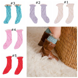 Wholesale Kid Girl Tube - Baby Socks Baby Knit Leg Warmers Toddle Infant Girls Boys Lace Flower Crochet Hollow Kids Sock In the Tube Socks