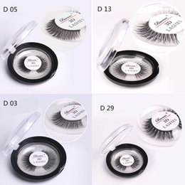 Wholesale wholesale hair extensions boxes - 3D Mink Hair Eyelashes with Round Retail Box 4 Style Fur Eyelashes Messy Eye lash Extension Sexy Eyelash Full Strip DHL Free Shipping