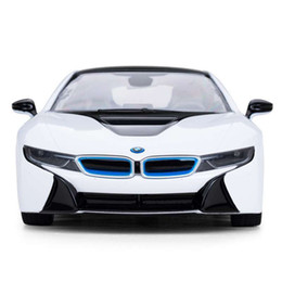 Wholesale rc units - BMW i8 USB Rechargeable RC Car Toys 1 14 Scale Model Toy Abh Glow Radio Control Kids Toys Sports Cars