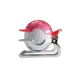 golfballschuh Rabatt Golf Ball Liner Vorlage Zeichnung Markierung Spot Liner Ausrichtung Putting Tool Golf Training Zubehör mit Maker Pen (rot)