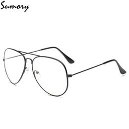 Piloto de moda Marco de anteojos Gafas lisas Mujeres Hombres Vintage Marca Clear Nerd Gafas Marco de aleación Unisex Eyewear Alta calidad desde fabricantes