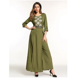 modelos abaya Desconto Ramadan Mubarak Pantyress Pantskirt Muçulmano, Novo Modelo Abaya em Dubai Eid Mubarak Formal Clássico Árabe Vestidos Trajes Muçulmanos