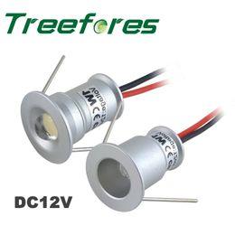 Wholesale Led Spots Lights - 45PCS IP65 Waterproof 1W 12V DC Interior Bulb Downlight Mini Led Spot Light Outdoor Deck Lamp
