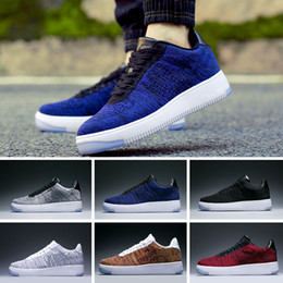 sale retailer 01c84 6bbc0 Nike Air Force 1 Flyknit AF1 trainer Sports Sneaker all ingrosso caldo 1  alto campo speciale grano bianco nero scarpe uomo donna scarpe da uomo  sneakers ...