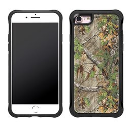 Wholesale Wholesale Camouflage Iphone Cover - Hybrid Camouflage Phone Case Acrylic TPU Anti Skid Drop Protection Cover For iPhone X 8 7 6s 6 Plus Opp Bag