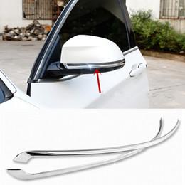 Miroirs bmw en Ligne-Acier Inoxydable Vue Arrière De Voiture Miroir Decal Cover trim 2 pcs Extérieur Miroir Stickers Bande Auto Accessoires Pour BMW X5 X6 2014-16