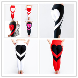 Wholesale fasting workout - Yoga Pants Sports Leggings 2018 Sexy Peach Hips Heart Shape Gym Clothes Spandex Running Workout Women Patchwork Fitness Tights fast shipping