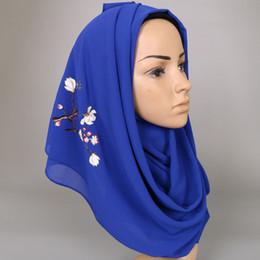 Canada Laven femmes imprimées foulard floral en mousseline de soie bulle foulards d'été châles hijab mode musulmane longue enveloppe bandeau écharpe 180 * 73 cm S18101904 cheap scarf fashion for muslim women Offre
