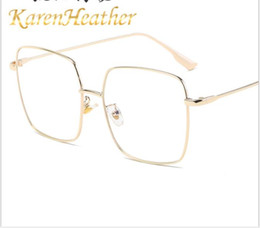 goldene brücke sonnenbrille Rabatt Neue Anti blaue Licht Brille, Persönlichkeitsentwicklung, flacher Spiegel, Metallrahmen Glasrahmen, Glasrahmen.
