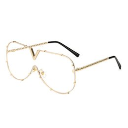 Wholesale mirror alloy rims - Multicolor frog mirror one piece fashion sunglasses metal frames women men goggles new style connection lens UV400 protection