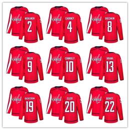 Wholesale Hot Washington - Free Shipping 2018 NHL Washington Capitals Hockey jerseys HOT on sale men's t-shirt hockey jersey size M L XL XXL customized item