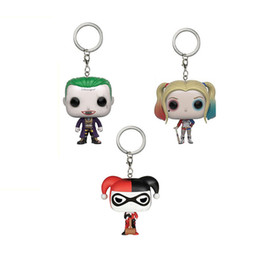 Wholesale Heroes Theme - Task Force X Theme Keychain 1PC Toys Action Figure Women Hero Collectible Children's toys Movie Figure