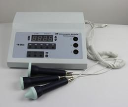 Équipement professionnel de soin de peau en Ligne-soins de la peau professionnels du visage nettoyer portable équipement de thérapie physique par ultrasons 3 machines faciales ultrasons mhz TM-263A
