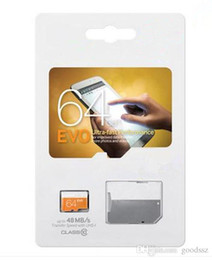 Wholesale tf card sdhc - EVO 16GB 32GB 64GB Micro SD Card Class 10 UHS-1 SDXC SDHC TF Memory Card w  SD Adapter & Sealed Package