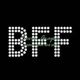 Argentina Bff hierro en letras de diamantes de imitación al por mayor, Crystal Hotfix Alphabet Motif Suministro