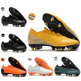 0491f11881e Mens niedrige Ankle Fußballschuhe CR7 Mercurial Superfly VI 360 Elite SG AC Fußball  Schuhe ACC Vapor XII PRO Neymar Fußballschuh