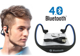 Wholesale Bluetooth Headset Card Mp3 - Original S9 Sport Wireless Handfree Earphone Bluetooth 4.0 With Without TF Card Slot MP3 Earphones Protable Headset With 2.0 USB