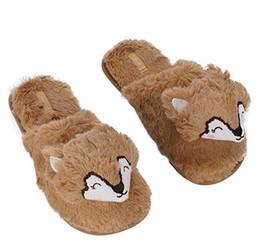 Inverno caldo morbido interno Pantofole Carino Hedgehog animale Fuzzy camera da letto Inverno Pantofole Scarpe soffici pantofole da