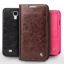 Wholesale leather cases for galaxy s4 - Vintage leather flip case for Samsung Galaxy S4, slim leather cover for galaxy S4