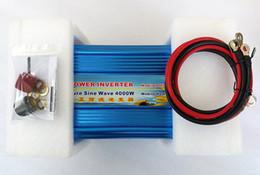 2019 12v чистый инвертор синусоидальной волны Инвертор 4000W Чистая синусоида для панели солнечных батарей 12V / 24V / 48VDC до AC110V / 220V пиковая мощность 8000W двойной цифровой дисплей инвертор дешево 12v чистый инвертор синусоидальной волны